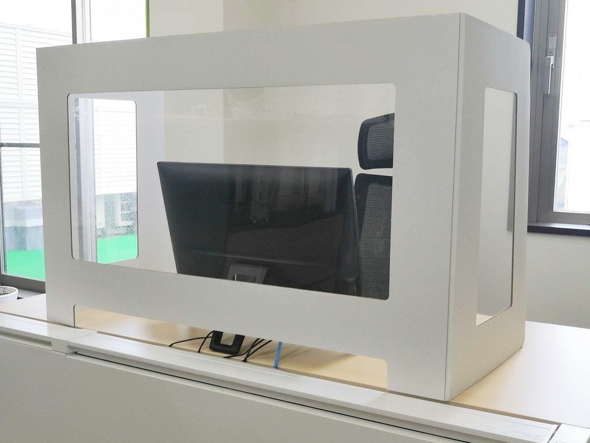 飛沫防止デスク用卓上パーテーションのサムネイル